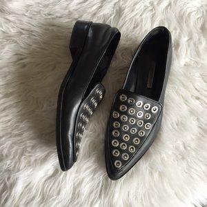 Zara Studded Pointed Toe Loafer